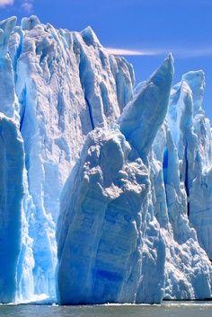 Beautiful icefall at glacier