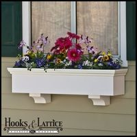 Composite Window Boxes, Wood-Like PVC Window Boxes, Rot-Proof Flower Box