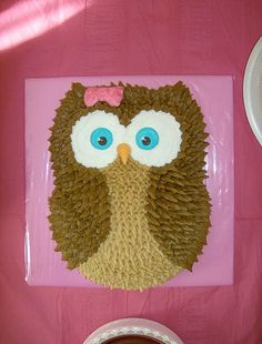 owl birthday cake...