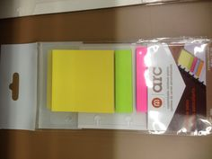 ARC page finder with post-it notes and tabs.   This is a new product that isn't on their website. It's great because it has flags and a square post it note that you can write on and repost elsewhere.  $1.99