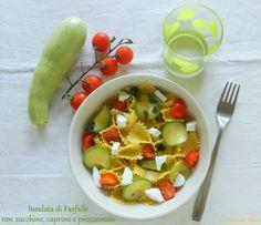 INSALATA DI FARFALLE con zucchine, robiola fresca e prezzemolo - La cascata dei Sapori blog