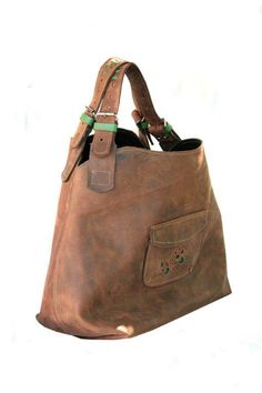 Brown Leather Hobo Bag By Ladybuq On Etsy 180 00 Bags
