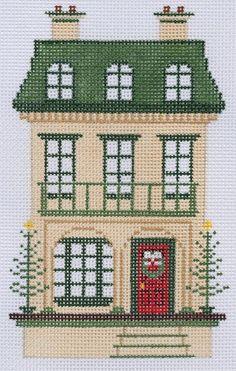 Victorian dollhouse ornament needlepoint canvas