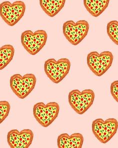 pattern | pizza love illustration