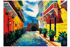 """Puerto Rico,20""""x24"""",Old San Juan, Canvas print of oil painting,Original print, signed by painter , Capilla del Cristo , built 500 years ago,, no frame... #print #original #juan #painting #puerto #canvas #rico"""
