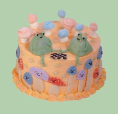 Pretty Birthday Cakes, Pretty Cakes, Cake Birthday, Kreative Desserts, Pastel Cakes, Frog Cakes, Just Cakes, Cute Food, Mini Cakes