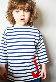 Nautical stripe top - self drafted