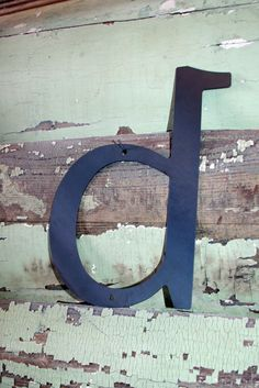 """Lowercase Industrial Metal Letter """"d"""" With FREE Shipping. $12.00, via Etsy."""