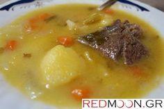 Ζεστή, θρεπτική και πεντανόστιμη σούπα μοσχάρι βραστό