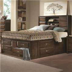 Northside King Platform Storage Bed with Sliding Doors by Generations by Coaster - Furniture Palace Florida - Captain's Bed