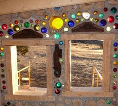 cordwood homes - add bottles for color and light.