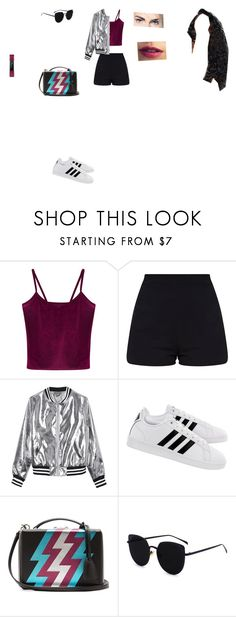 """Casual Outfit"" by helena94-1 on Polyvore featuring WithChic, Sans Souci, adidas, Mark Cross, Fitbit, Sephora Collection, polyvoreeditorial and polyvorefashion"