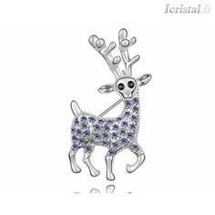 Crystal brooch by SWAROVSKI ELEMENTS Crystal Brooch, Moose Art, Swarovski, Crystals, Gifts, Animals, Accessories, Presents, Animales