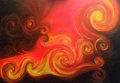 Dipinti ad olio: Eruzione
