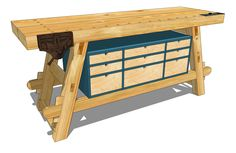 Moravian Workbench Plans