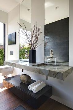 Modern Bathroom Sink Design, Pictures, Remodel, Decor and Ideas - page 2 Bathroom Sink Design, Modern Bathroom Design, Bath Design, Bathroom Interior, Bathroom Designs, Vanity Design, Shower Designs, Bathroom Ideas, Modern Design
