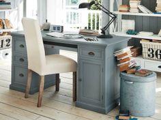 Grijs houten bureau b house interiors wooden desk grey