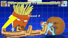 The Annoying Orange And Rainbow Dash VS Frylock And Emma Frost In A MUGEN Match / Battle / Fight This video showcases Gameplay of Rainbow Dash From The My Little Pony Friendship Is Magic Series And The Annoying Orange VS Frylock From The Aqua Teen Hunger Force Series And Emma Frost In A MUGEN Match / Battle / Fight