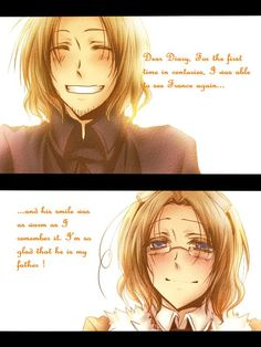 """Aw...this one's so sweet! Personally, how Matthew and Francis get along today, I think, depends on how one translates the events of the Seven Years' War onto the Hetalia characters. For instance, this is a lot more heartwarming than what I thought their """"reunion"""" would be like - but that's just my head-canon."""