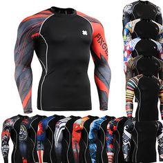 FIXGEAR Mens Compression Skin Tight Shirts Baselayer Running Gear Top s 4XL | eBay #sportswear #men #Fixgear  @A Lee