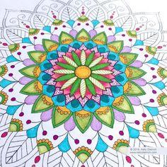Flowering Mandala Free Coloring Page — Kelly Dietrich Mandala Art