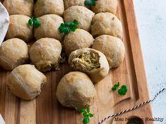 Buns farcis au poulet et poireau au fromage Feta, Tortillas, Baked Potato, Potatoes, Bread, Baking, Wraps, Ethnic Recipes, Fibre