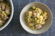 Roasted Spaghetti Squash with Sausage and Kale on Simply Recipes