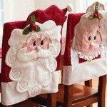 Christmas chair back covers Christmas Chair, Christmas Sewing, Christmas Love, All Things Christmas, Christmas Holidays, Christmas Decorations, Christmas Ornaments, Merry Christmas, Christmas Projects