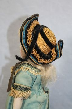 "antique french fashion dolls | Antique 9"" Bru BEBE Jumeau French Bisque Fashion Doll Orig Pin Clothes ..."