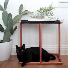 Learn to make your own copper + leather table with this DIY by Emily Henderson. (via Style by Emily Henderson)