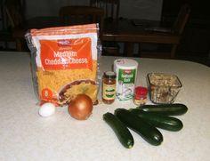 Zucchini Bake Stuffed No. 3 paprika nutmeg seasoning zukes-onion-cheddar...oh yeah!  fast easy cheap vegetarian healthy eating diabetic friendly