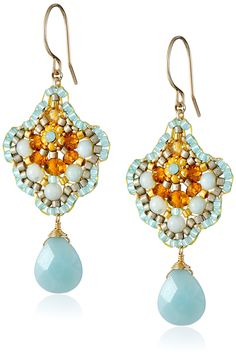 Amazon.com: Miguel Ases Amazonite Single Drop Earrings: Clothing