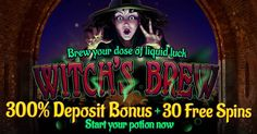 Palace of Chance Casino – 300% No Rules Bonus   30 Free Spins on Witch's Brew 2016