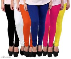 Leggings & Tights  COTTON HOSIERY BLACK+WHITE+ORANGE+ROYAL_BLUE+RANI+YELLOW LEGGING Fabric: Cotton Pattern: Solid Multipack: 6 Sizes:  Free Size (Waist Size: 40 in, Length Size: 43 in, Hip Size: 44 in)  Country of Origin: India Sizes Available: Free Size   Catalog Rating: ★3.7 (8599)  Catalog Name: Elegant Fabulous Women Leggings CatalogID_2445068 C79-SC1035 Code: 855-12640365-5841