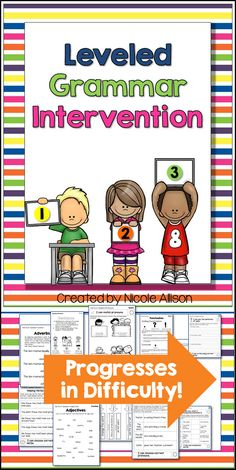 Speech therapy activities for grammar that are leveled for your entire caseload!
