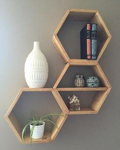 No photo description available. - Home Professional Decoration Honeycomb Shelves, Hexagon Shelves, Geometric Shelves, Home Decor Furniture, Diy Home Decor, Furniture Online, Living Room Decor, Bedroom Decor, Entryway Decor