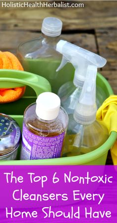 The Top 6 Nontoxic Cleansers Every Home Should Have #DIY #springcleaning #natural #cleaning #cleaningsupplies #naturalskincare #health #wellness #herbs #home | www.HarmonyHerbal.com