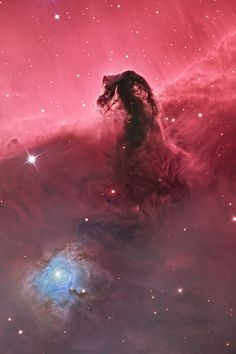 """The Horsehead Nebula"" (left), by Bill Snyder, (Winner), and ""At the Feet of Orion (NGC 1999) - Full Field"", by Marco Lorenzi. 