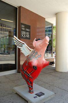 Flying high at the Cincinnati Main Library!