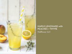SUMMER STAPLE: LEMONADE – Maple Lemonade with Peaches + Thyme