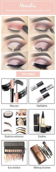 Newchic teaches you to make perfect smokey eyes! Giving you a super sexy look! www.youtube.com\/...