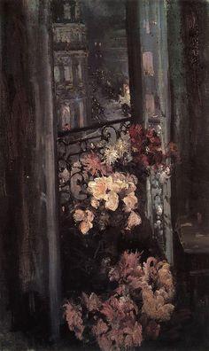 A Parisian Balcony, Konstantin Korovin. Russian (1861 - 1932)