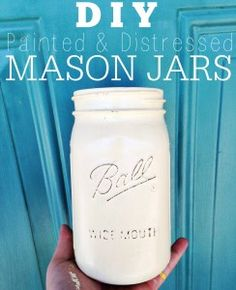 Painted Mason Jars DIY - Blissfully Ever After