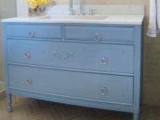 Converting an Old Dresser Into a Bathroom Vanity | Bathroom Ideas & Designs | HGTV