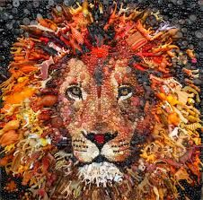 This womans art is just amazing. Recycled art by jane perkins