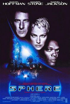 1998 - A glossy Michael Crichton thriller. I avoided it like  the plague at the time of its release. But it's a pretty good movie. Nice poster, due in large part to Sharon Stone's lovely visage.