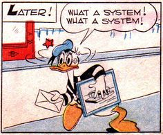 From Donald Duck in the Terror of the River by Carl Barks. Disney Duck, Disney Art, Walt Disney, Disney Movie Posters, Disney Movies, Tom Simpson, Funny Animal Comics, Mad Movies, Uncle Scrooge