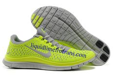 new styles e4f08 f5195 Mens Nike Free 3.0 V4 Wolf Grey Electric Green Volt Shoes  Mens  Nike