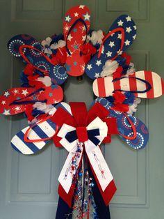 Patriotic Flip Flop Wreath