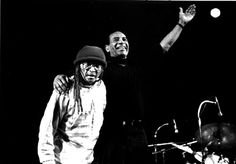 cecil taylor with max roach circa 1994. photo by enid farber